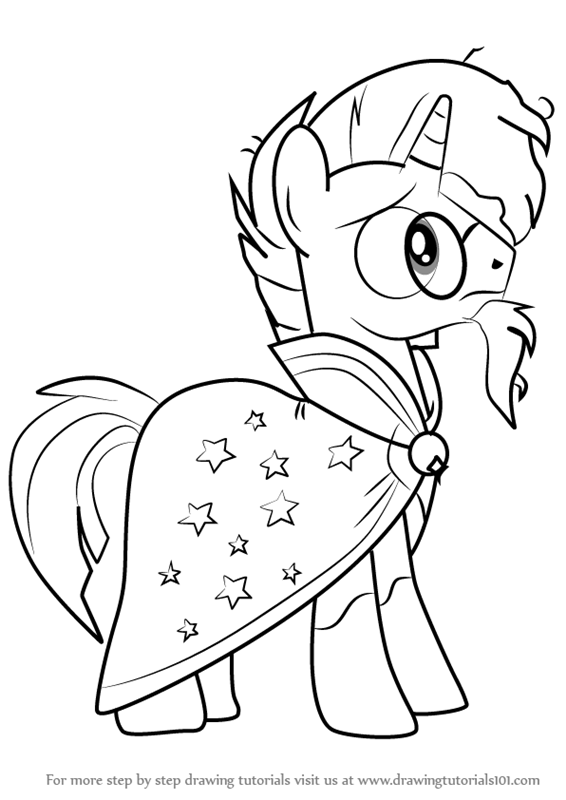 Learn How to Draw Sunburst from My Little Pony