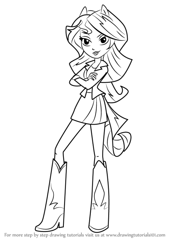 Mlp Sunset Shimmer Coloring Pages Printable Best Sketch Coloring Page