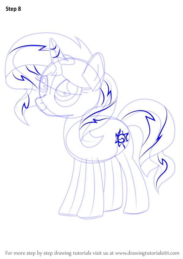 learn how to draw sunset shimmer pony from my little pony