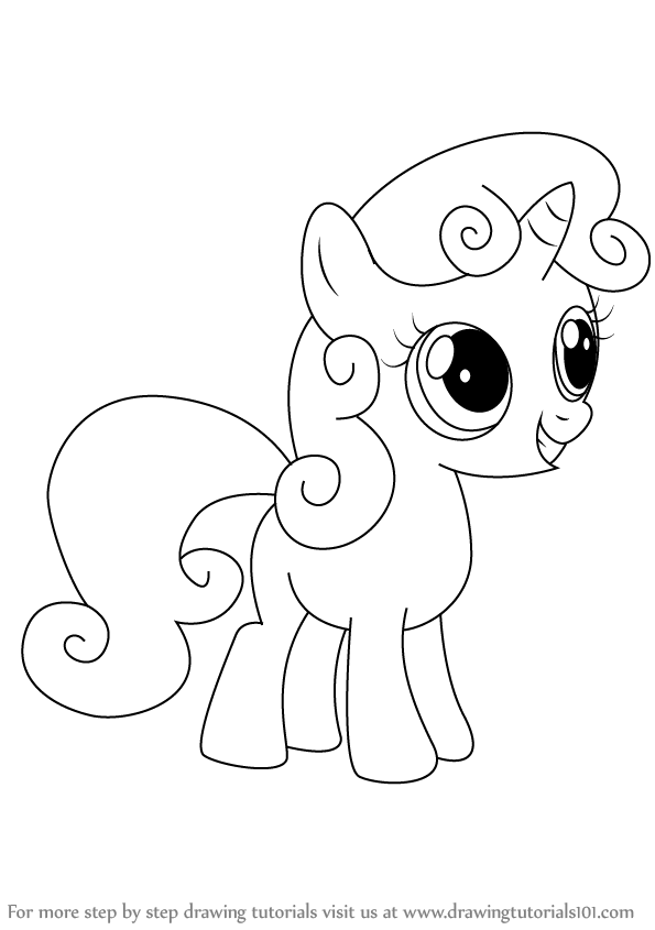 How To Draw Sweetie Belle From My Little Pony Friendship Is Magic