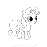 How to Draw Sweetie Belle from My Little Pony: Friendship Is Magic