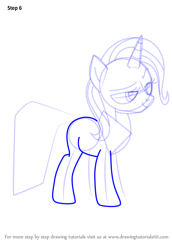 learn how to draw trixie from my little pony