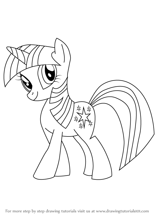 learn how to draw twilight sparkle from my little pony friendship