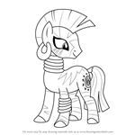 How to Draw Zecora from My Little Pony - Friendship Is Magic