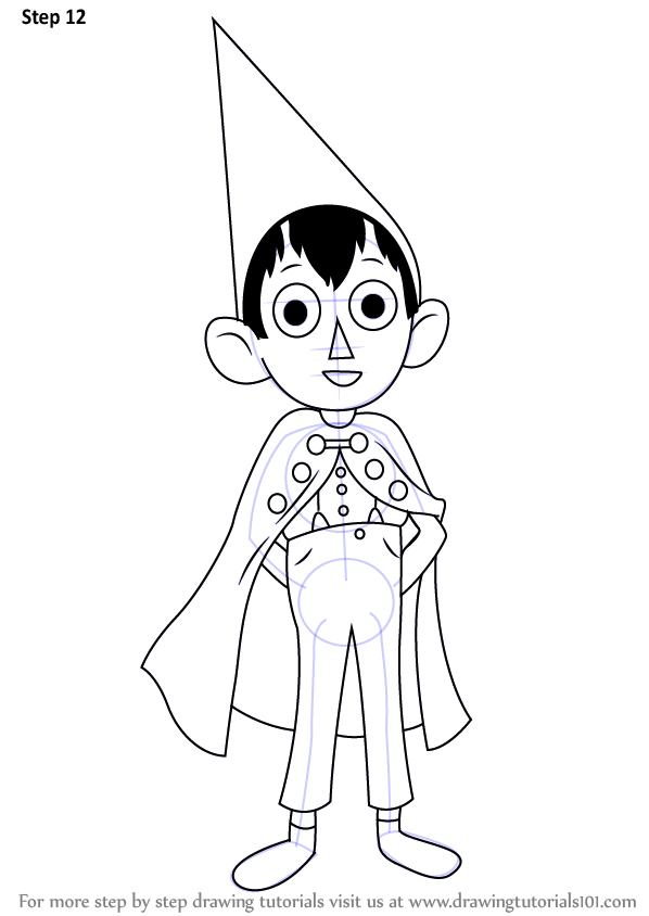 Step By Step How To Draw Wirt From Over The Garden Wall