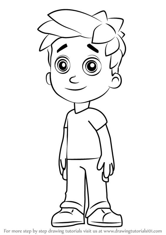 Learn How To Draw Alex Porter From Paw Patrol Paw Patrol Step By Step Drawing Tutorials