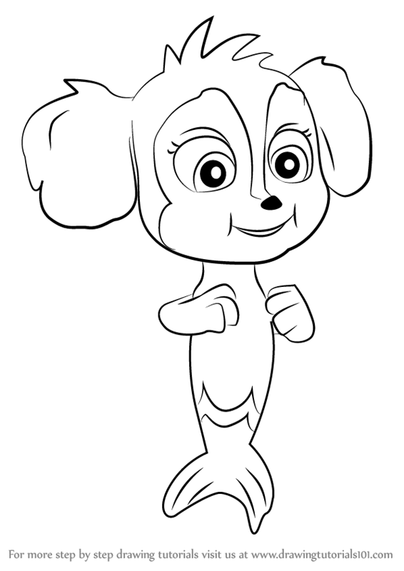 merpups coloring pages - photo#4