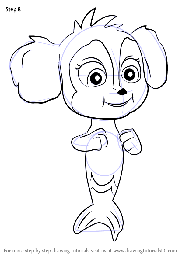 Learn How To Draw Baby Mer Pup From Paw Patrol Paw Patrol