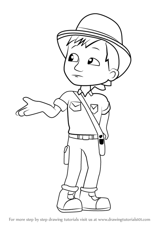 Learn How To Draw Carlos From Paw Patrol Paw Patrol Step