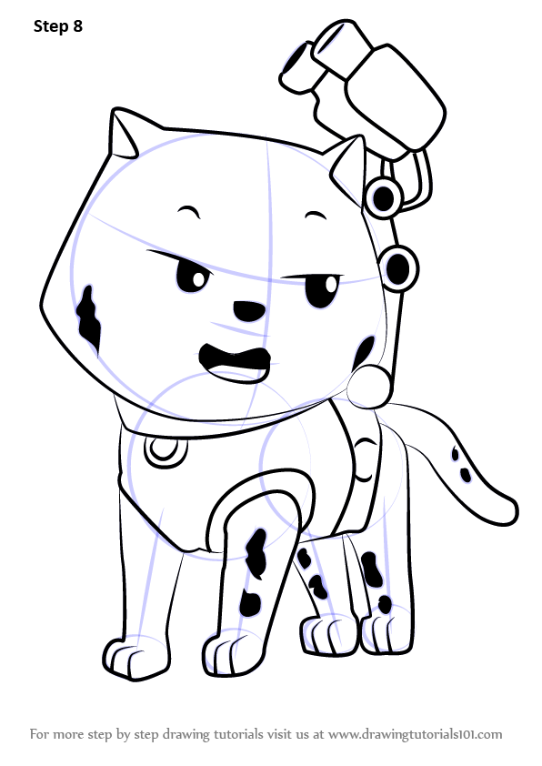 Learn How To Draw Cat Marshall From Paw Patrol Paw Patrol