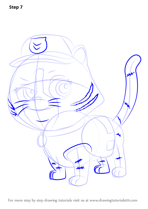 Learn How to Draw Cat Rocky from