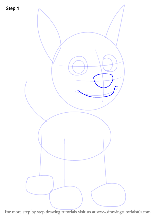 Learn How to Draw Chase from PAW Patrol (PAW Patrol) Step by