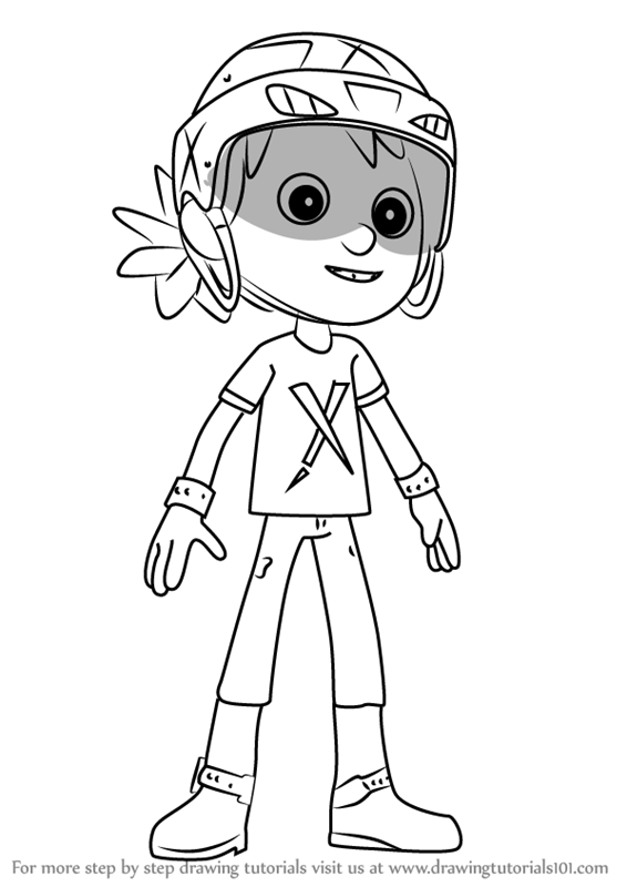 Learn How To Draw Danny From Paw Patrol Paw Patrol Step
