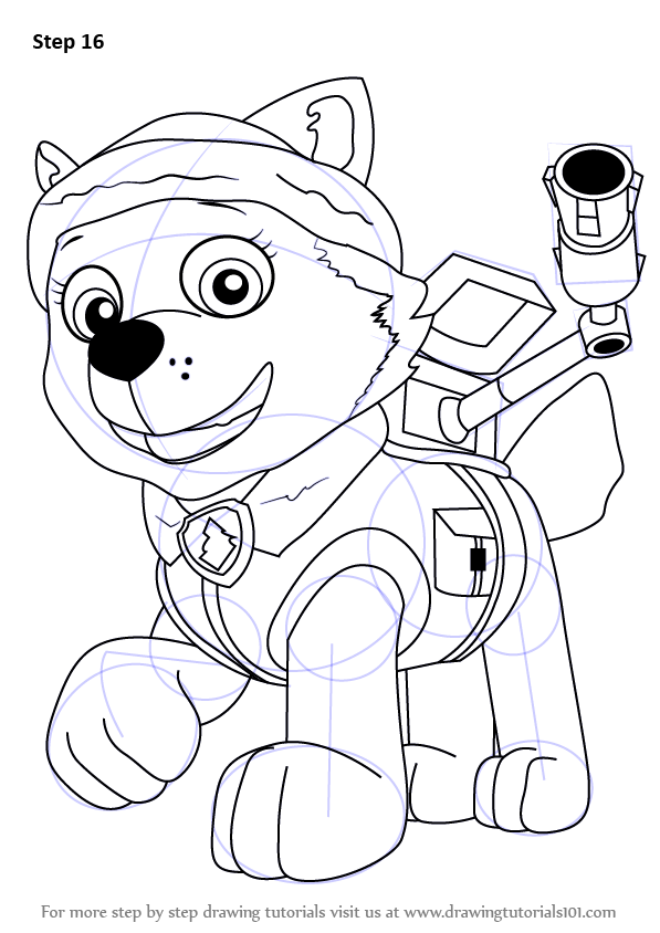 Paw Patrol Coloring Pages Free Everest : Everest paw patrol free colouring pages