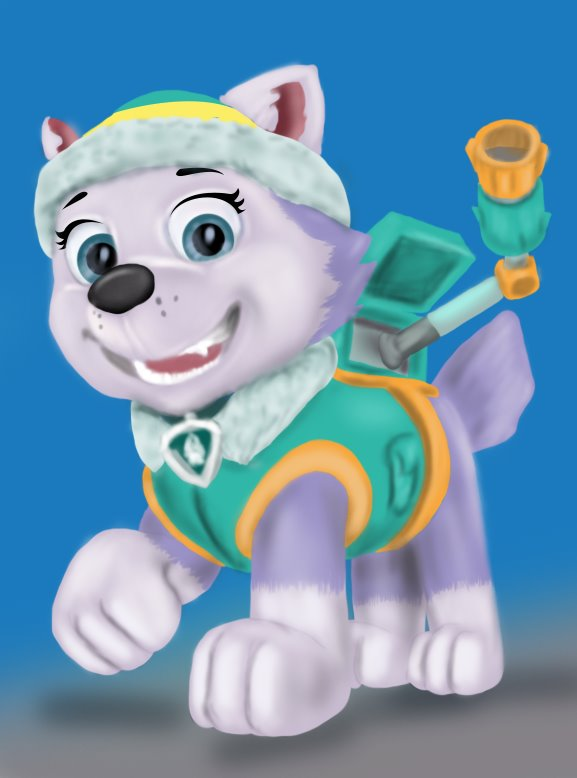 Learn How To Draw Everest From PAW Patrol Step By Drawing Tutorials