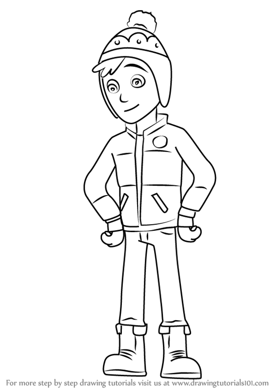 Learn How To Draw Jake From Paw Patrol Paw Patrol Step By Step