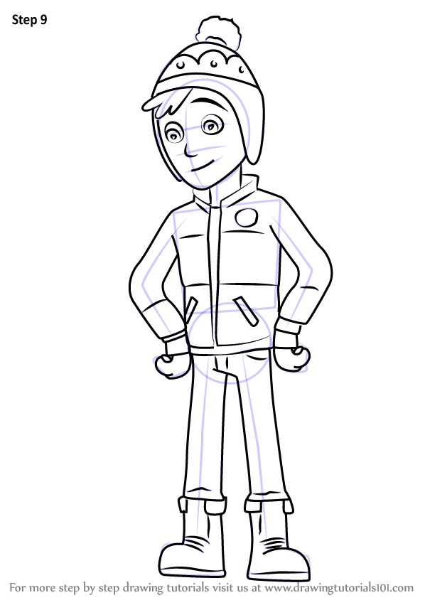 Learn How To Draw Jake From Paw Patrol Paw Patrol Step