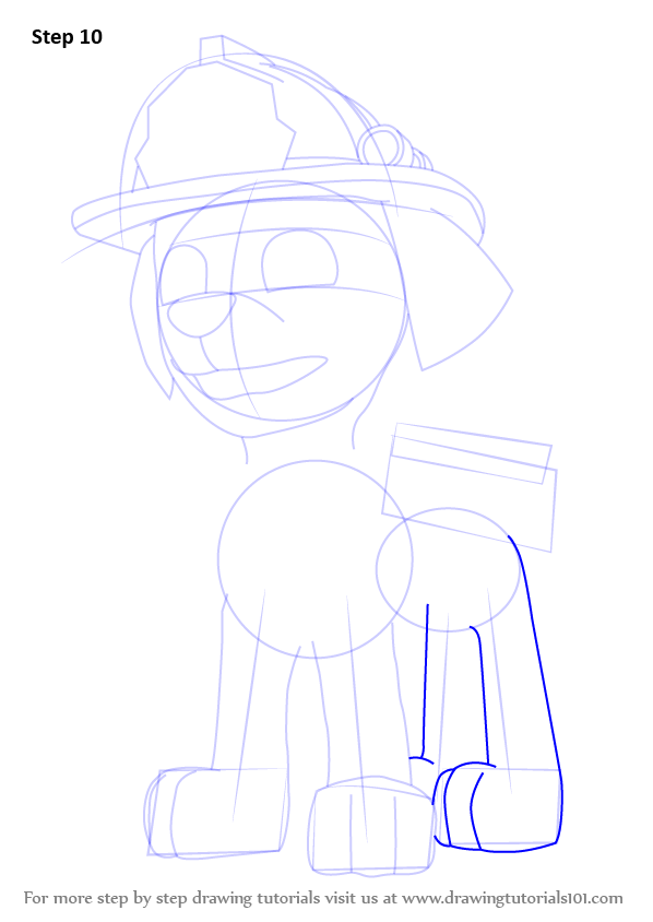 How To Draw Marshall From Paw Patrol on Printable Oval Shapes