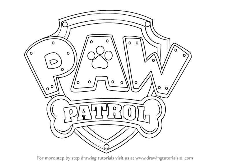 Learn How To Draw Paw Patrol Badge PAW Patrol Step By Drawing