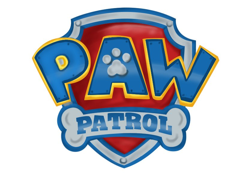 Selective image with paw patrol badge printable