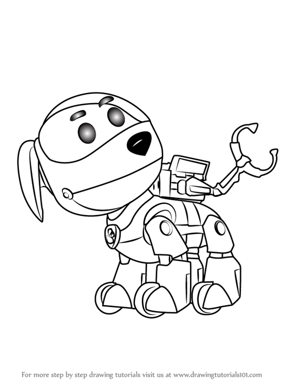 Learn How To Draw Robo Dog From Paw Patrol Paw Patrol