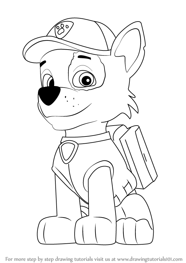 How To Draw Rocky From Paw Patrol Easy Free Download Oasis Dl Co