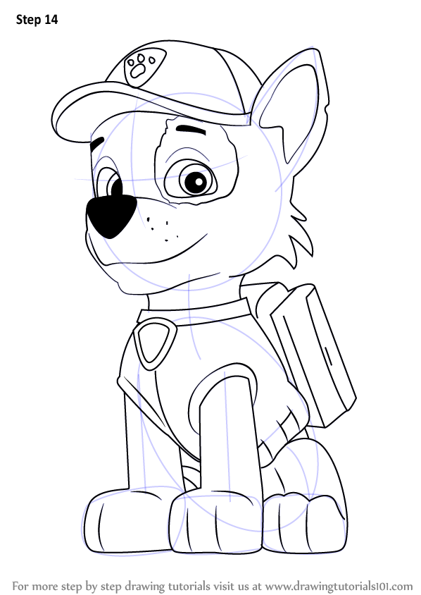 Learn How To Draw Rocky From Paw Patrol Paw Patrol Step