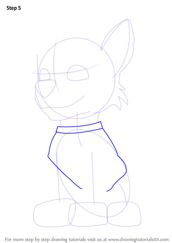 paw patrol skye how to draw