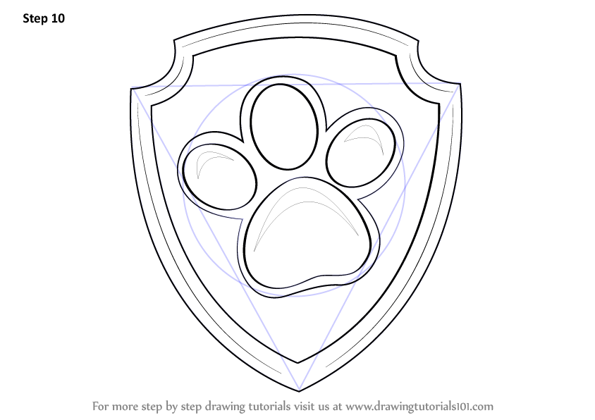 Learn How To Draw Ryder Badge From Paw Patrol Paw Patrol