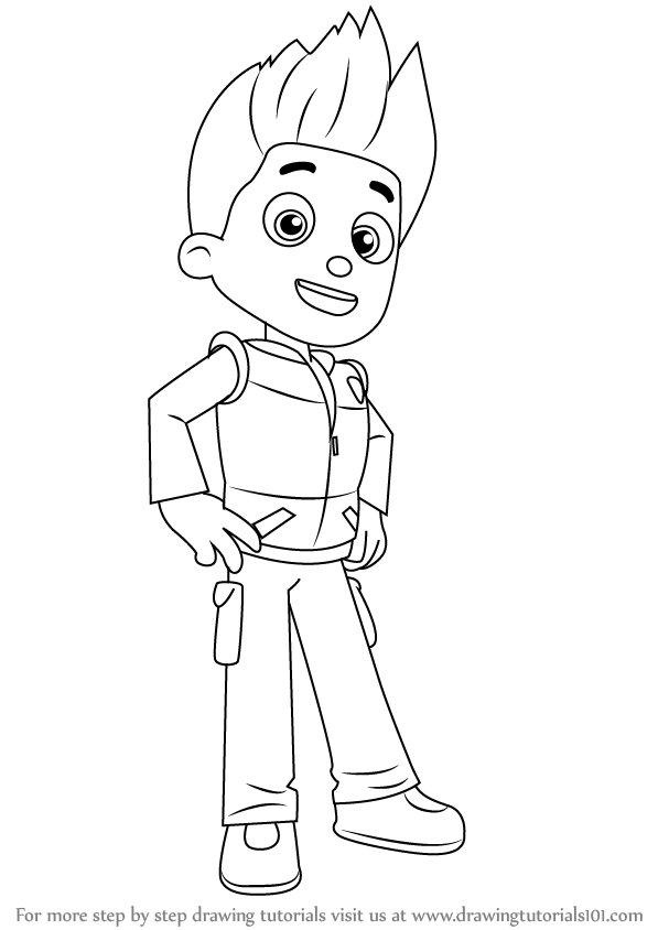 Learn How To Draw Ryder From Paw Patrol Paw Patrol Step
