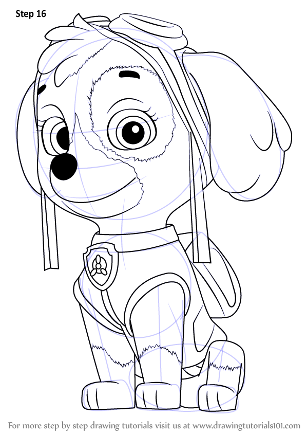 Learn How to Draw Skye from PAW Patrol (PAW Patrol) Step ...