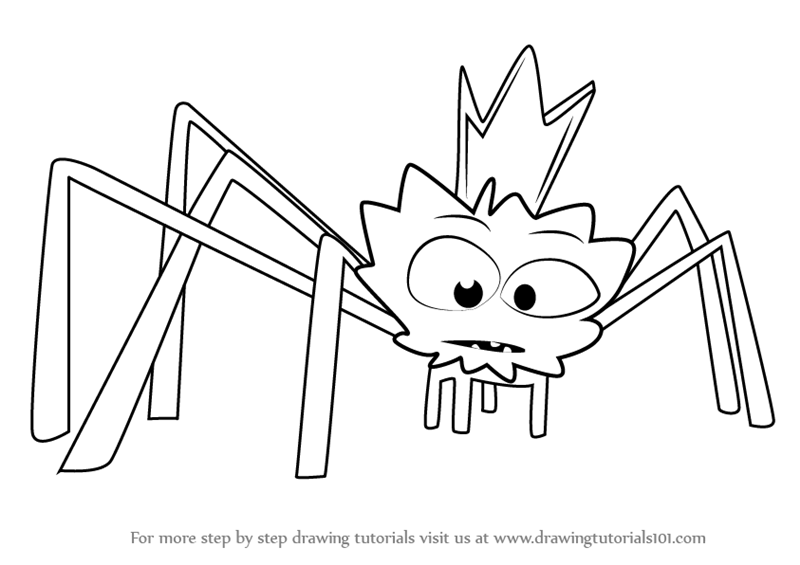 Learn How To Draw Spider King From Paw Patrol Paw Patrol