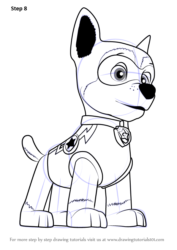 Learn How To Draw Super Chase From Paw Patrol Paw Patrol