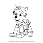 How to Draw Super Spy Chase from PAW Patrol