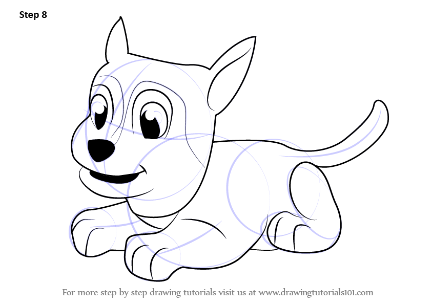 Learn How To Draw Sylvia From Paw Patrol Paw Patrol Step