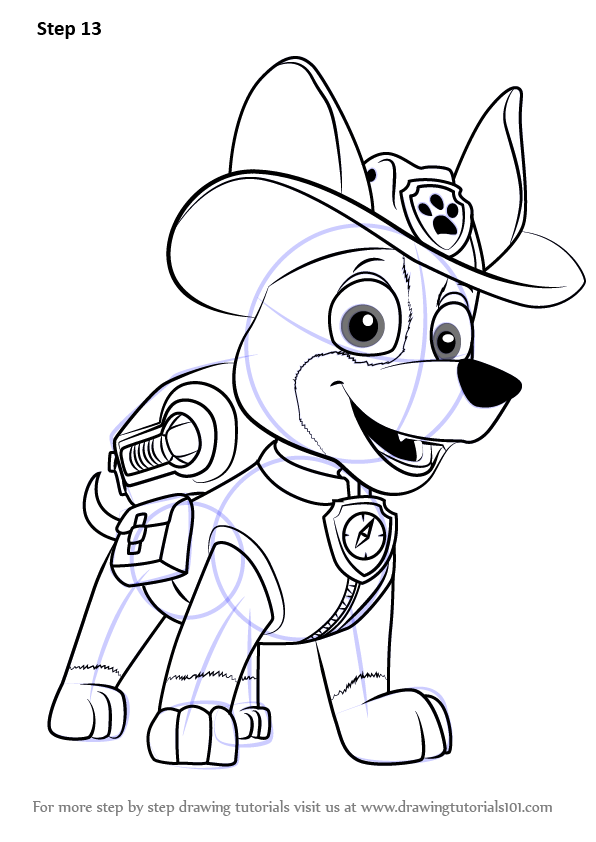 Learn How to Draw Tracker from PAW Patrol PAW Patrol