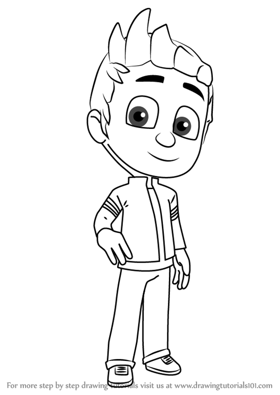 Learn How To Draw Connor From Pj Masks Pj Masks Step By
