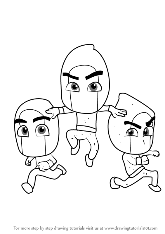 Step by Step How to Draw Ninjalinos