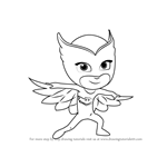 How to Draw Owlette from PJ Masks