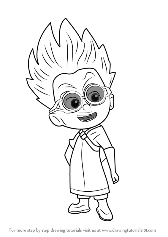 Step By Step How To Draw Romeo From Pj Masks