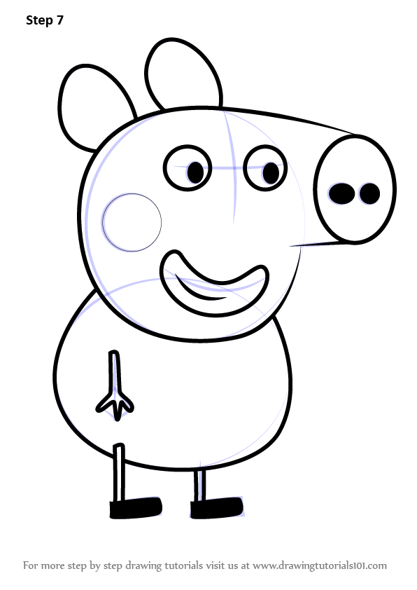 Learn How To Draw Alexander Pig From Peppa Pig Peppa Pig Step By Step Drawing Tutorials