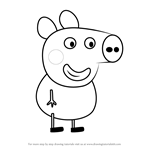 How to Draw Alexander Pig from Peppa Pig