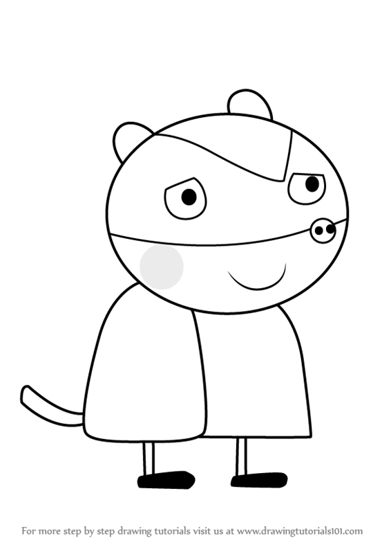 Learn How To Draw Betty Badger From Peppa Pig Step By Drawing Tutorials