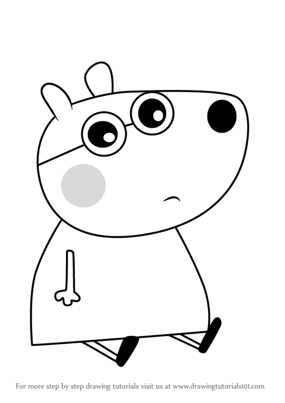 Learn How To Draw Brianna Bear From Peppa Pig Step By Drawing Tutorials