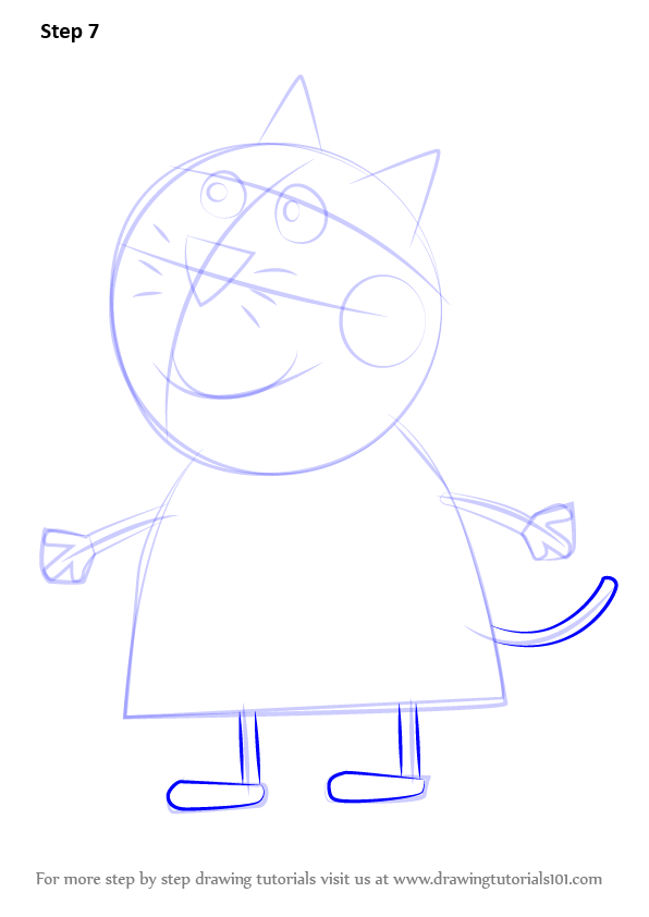 Step by Step How to Draw Candy Cat from Peppa Pig ...