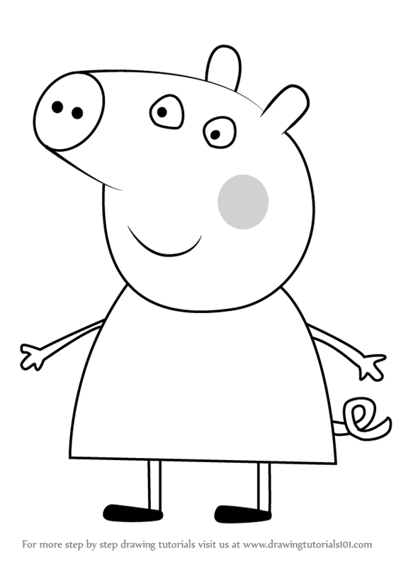 Learn How to Draw Chlo Pig from Peppa Pig Peppa Pig Step by