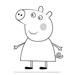 How to Draw Chloé Pig from Peppa Pig