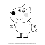How to Draw Danny Dog from Peppa Pig