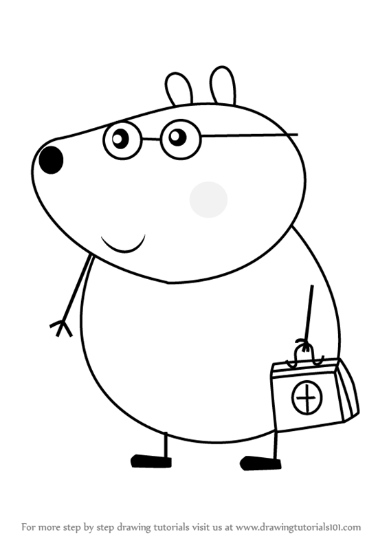 Learn How To Draw Dr Brown Bear From Peppa Pig Peppa Pig