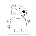 How to Draw Dr Hamster the vet from Peppa Pig